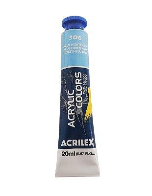 Tinta Acrilica Acrilex 20ml 306 - Azul Hortência