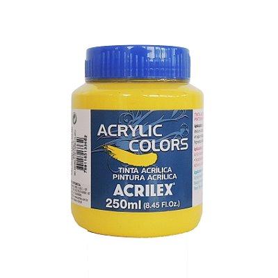 Tinta Acrilica Acrilex 250ml Grupo 2 340 - Amarelo de Cadmio Claro