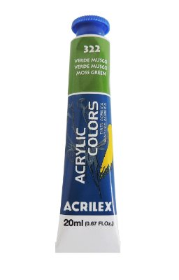 Tinta Acrilica Acrilex 20ml 322 - Verde Musgo
