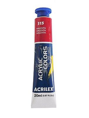 Tinta Acrilica Acrilex 20ml 315 - Magenta