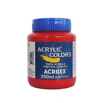 Tinta Acrilica Acrilex 250ml Grupo 2-350 Vermelho Claro