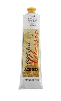 Tinta Oleo Acrilex 120 ml 318 - Branco de Zinco