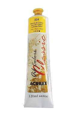 Tinta Oleo Acrilex 120 ml 324 - Amarelo de Cadmio