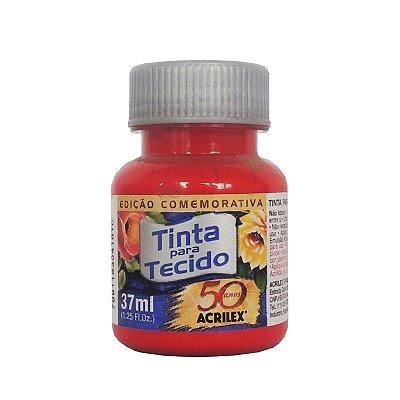 Tinta para Tecido Acrilex 37ml 583 Vermelho Tomate