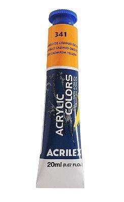 Tinta Acrilica Acrilex 20ml 341 - Amarelo de Cadmio Escuro