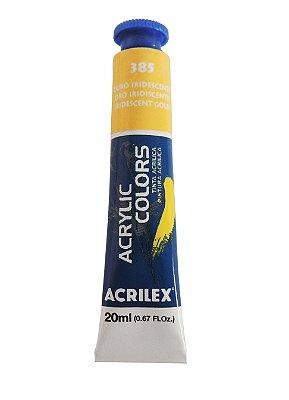 Tinta Acrilica Metalica Acrilex 20ml 385 - Ouro Iridescente