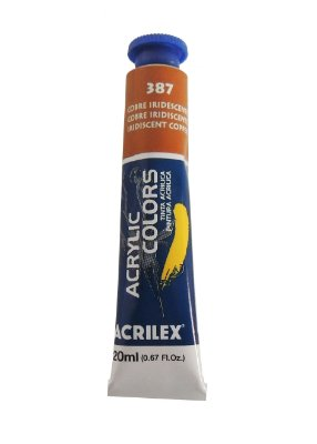 Tinta Acrilica Metalica Acrilex 20ml 387 - Cobre Iridescente