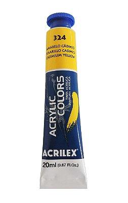 Tinta Acrilica Acrilex 20ml 324 - Amarelo de Cadmio