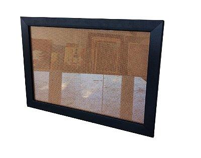 Moldura para Certificado Preta com Vidro