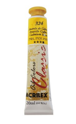 Tinta Oleo Acrilex 20ML 324 - Amarelo de Cadmio