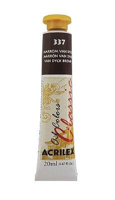 Tinta Oleo Acrilex 20ML 337 - Marrom Van Dyck