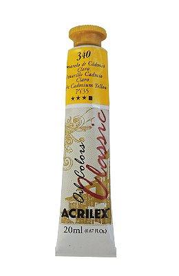 Tinta Oleo Acrilex 20ML 340-Amarelo de Cádmio Claro
