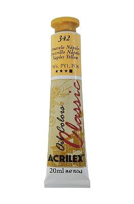 Tinta Oleo Acrilex 20ML 342 - Amarelo Nápoles