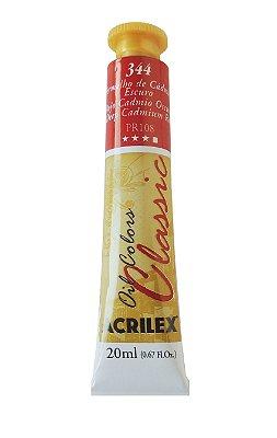 Tinta Oleo Acrilex 20ML 344 - Vermelho de Cádmio Escuro