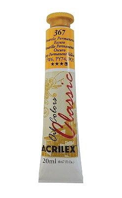 Tinta Oleo Acrilex 20ML 367 - Amarelo Permanente Escuro
