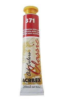 Tinta Oleo Acrilex 20ML 371 - Laca de Garanza Rosa Antiga