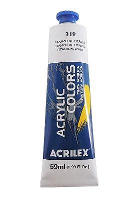 Tinta Acrilica Acrilex 59ml 319-Branco Titâneo