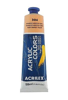 Tinta Acrilica Acrilex 59ml 304 - Amarelo Napoles Carne