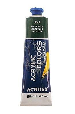 Tinta Acrilica Acrilex 59ml 353 - Verde Vessie