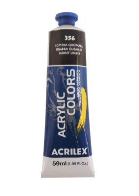 Tinta Acrilica Acrilex 59ml 356 - Sombra Queimada