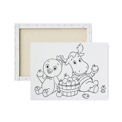 Tela para pintura infantil - Backyardigans