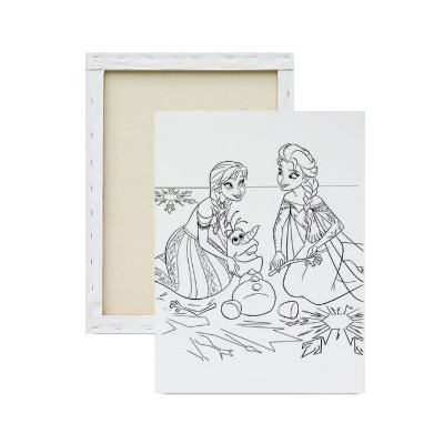 Tela para pintura infantil - Elsa e Anna