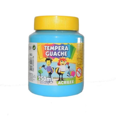 Tinta Tempera Guache Acrilex 250 ml 503 - Azul Celeste