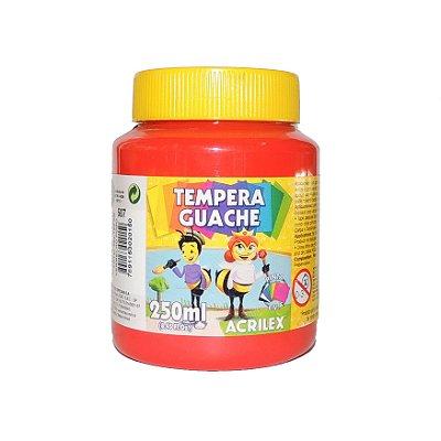Tinta Tempera Guache Acrilex 250 ml 507 - Vermelho Fogo