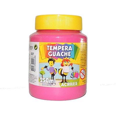 Tinta Tempera Guache Acrilex 250 ml 537 - Rosa