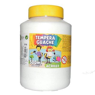 Tinta Tempera Guache Acrilex 500 ml 519 - Branco