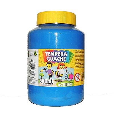 Tinta Tempera Guache 500 ml 501 - Azul Turquesa
