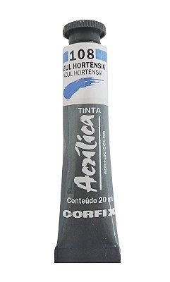 Tinta Acrilica Corfix 20ml 108 Azul Hortencia