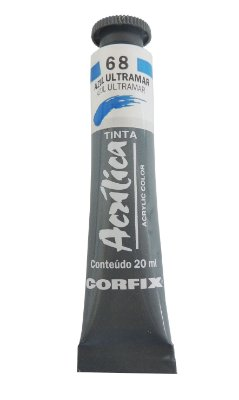 Tinta Acrilica Corfix 20ml 68 Azul Ultramar