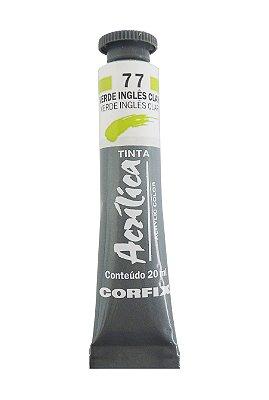 Tinta Acrilica Corfix 20ml 77 Verde Ingles Claro