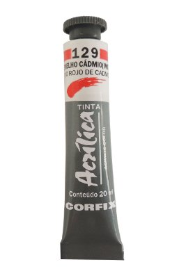 Tinta Acrilica Corfix 20ml 129 Vermelho Cadmio