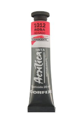 Tinta Acrilica Fluorescente Corfix 20ml 1012 Rosa
