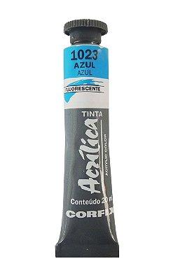 Tinta Acrilica Fluorescente Corfix 20ml 1023 Azul