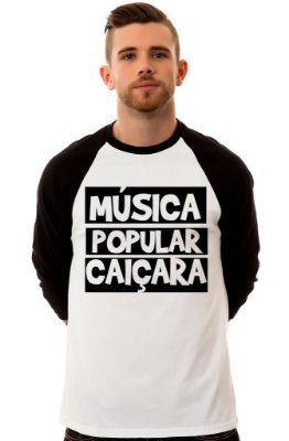 Camiseta Raglan 3/4 / Sheik Supply Co / Música Popular Caiçara