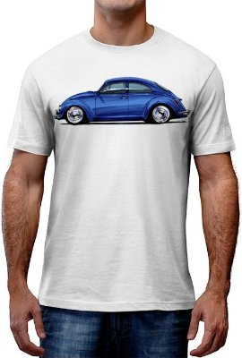 [OFERTA] Camiseta Fusca Azul Tamanho XG