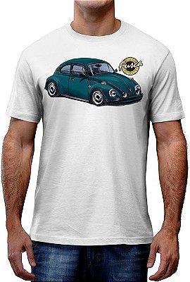 [OFERTA] Camiseta Fusca Ouro Azul Petroleo Tamanho G