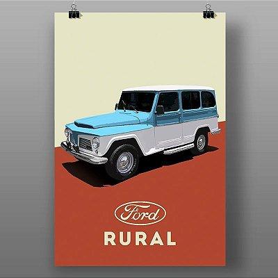 Poster Retrô Rural