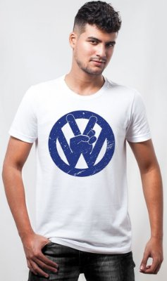 Camiseta Volkswagen Sign Azul