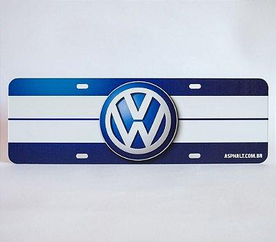 Placa Volkswagen Logomarca