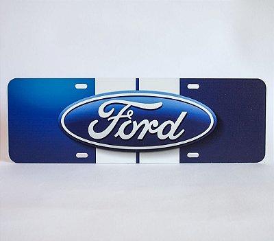 Placa Ford 3D