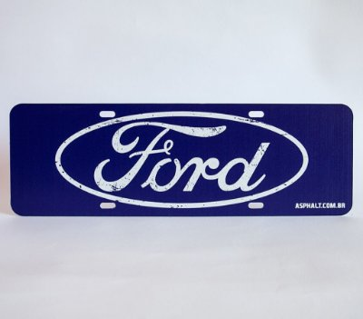Placa Ford Logomarca