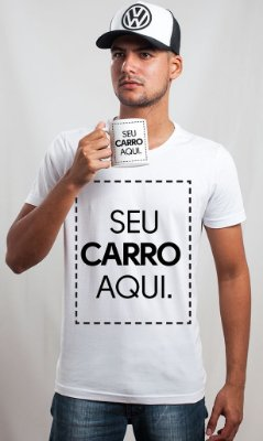 Kit Personalizado: Camiseta + Boné Trucker + Caneca