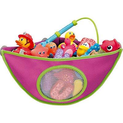 Organizador de Brinquedos para Banho, da Munchkin, cor Rosa