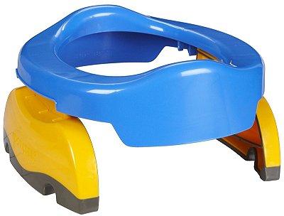 Potette Plus 2 em 1, Privadinha Portátil e Redutor Sanitário, cor Azul com Amarelo