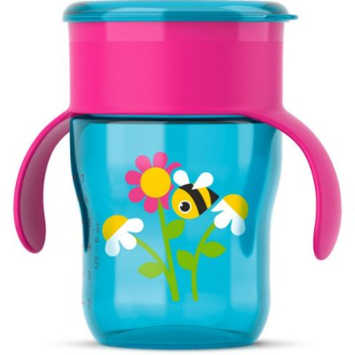 Copo Natural, 260ml, cor azul e rosa, da Philips Avent