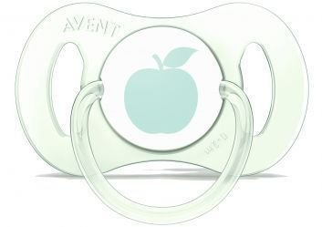 Mini chupeta, ortodôntica, verde clara, tamanho 0-2 meses, da  Philips Avent